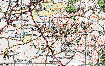 Old map of Adam's Hill in 1921