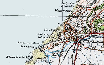 Old map of Clevedon in 1919