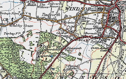 Old map of Clewer Green in 1920
