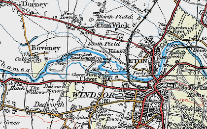Old map of Clewer Village in 1920