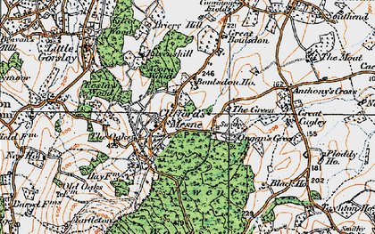 Old map of Woodgate in 1919
