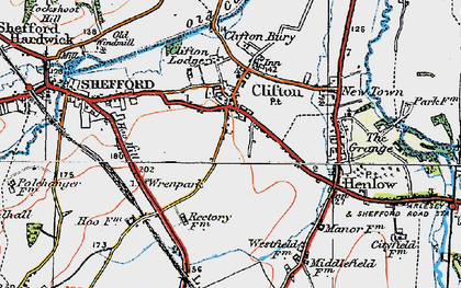 Old map of Clifton in 1919