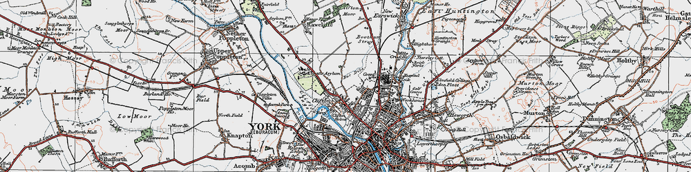 Old map of Clifton in 1924