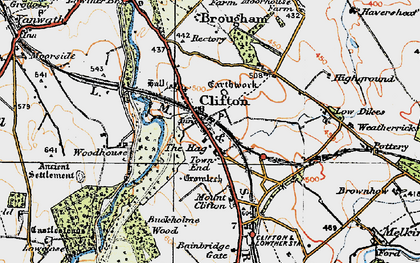 Old map of Bainbridge Gate in 1925