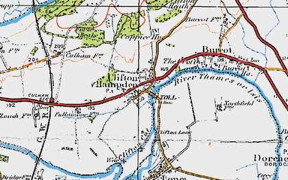 Old map of Clifton Hampden in 1919