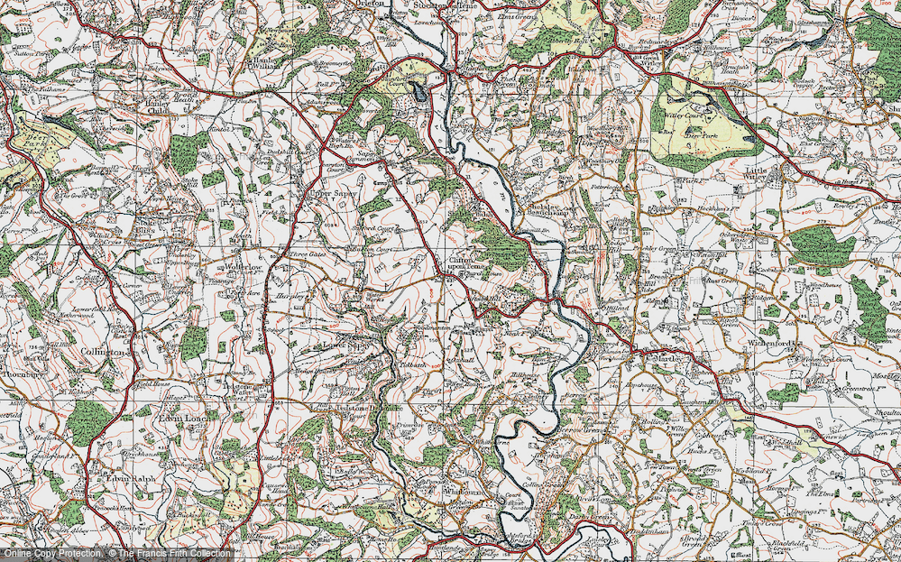 Old Map of Clifton upon Teme, 1920 in 1920