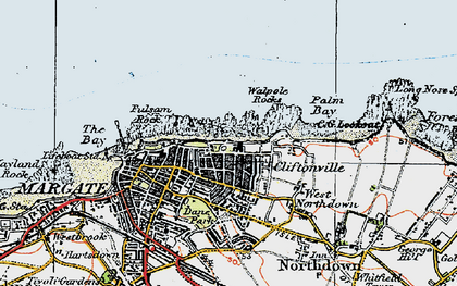 Old map of Cliftonville in 1920