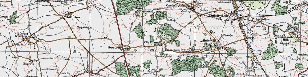 Old map of Addah Wood in 1922