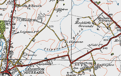 Old map of Leighton Buzzard Railway in 1919