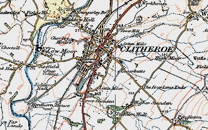 Old map of Clitheroe in 1924