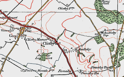 Old map of Audleby in 1923