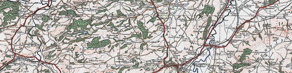 Old map of Tirnewydd in 1921