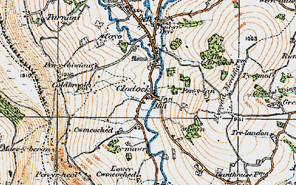 Old map of Clodock in 1919