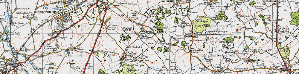 Old map of Westfield Common in 1919