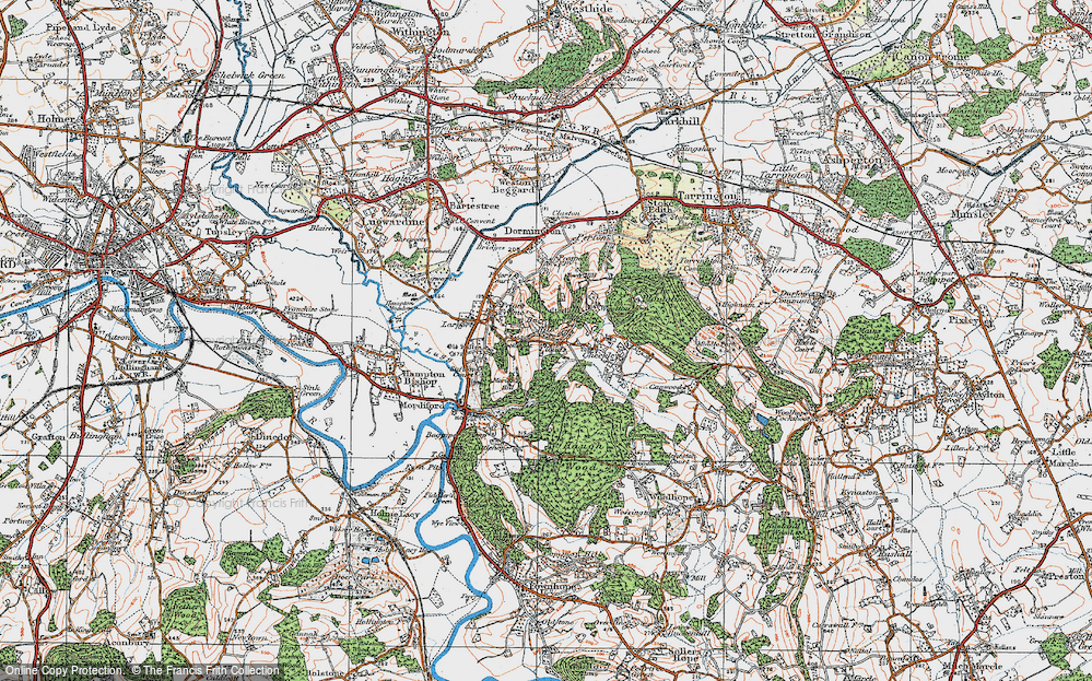 Old Map of Historic Map covering Backbury Hill in 1920