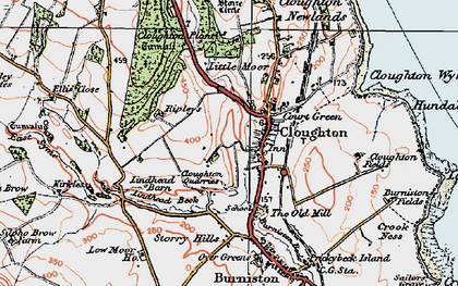 Old map of Cloughton in 1925