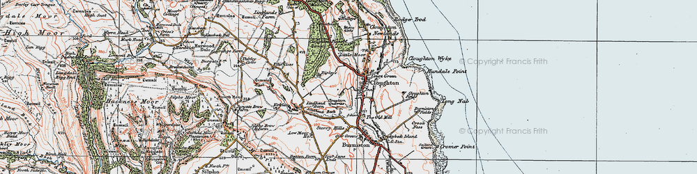 Old map of Lindhead Gorse in 1925