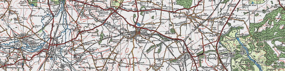 Old map of Clowne in 1923