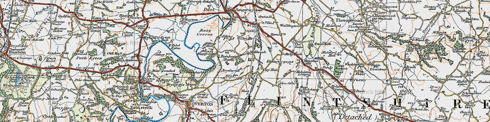 Old map of Adra-felin in 1921