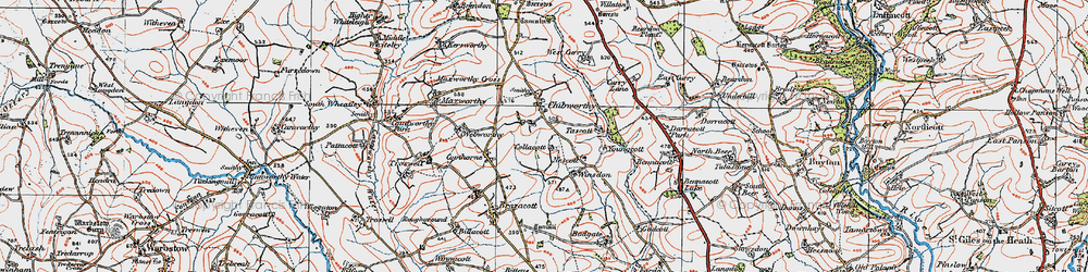 Old map of Winsdon in 1919