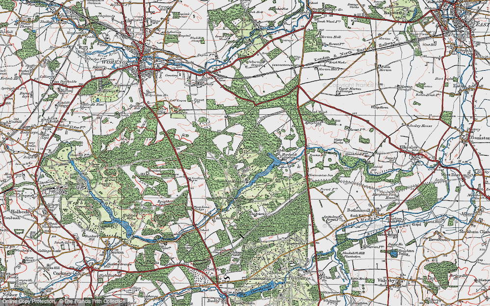 Old Map of Clumber Park, 1923 in 1923