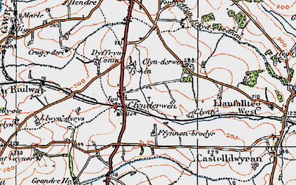 Old map of Clynderwen in 1922