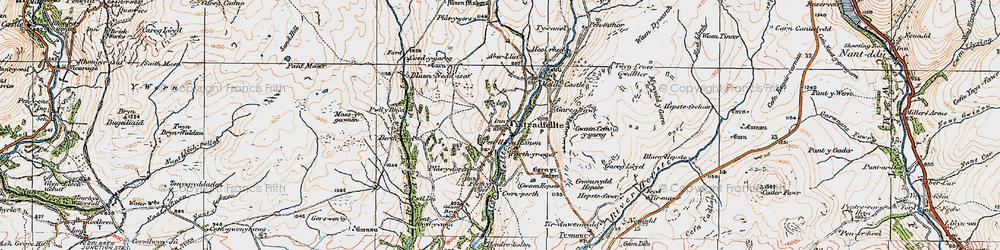 Old map of Aber-llia in 1923