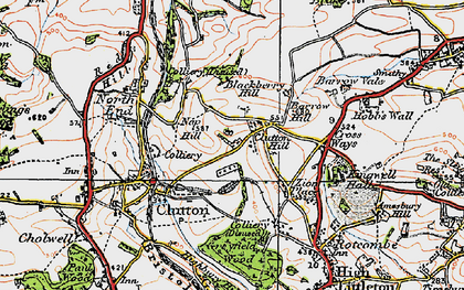 Old map of Zion Place in 1919