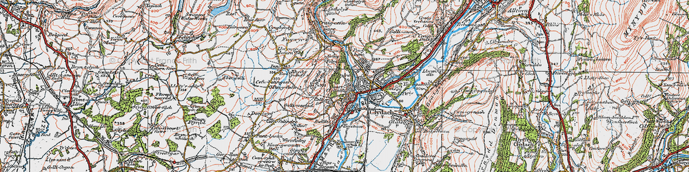 Old map of Clydach in 1923