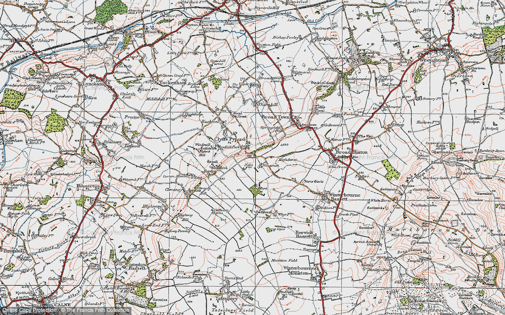 Old Map of Historic Map covering Woodhill Park in 1919
