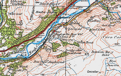 Old map of Banwen Torybetel in 1923