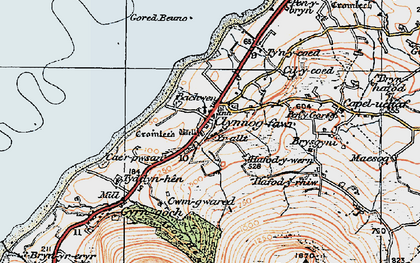 Old map of Yr Allt in 1922