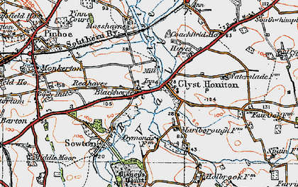 Old map of Wroford Manor in 1919