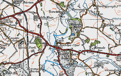 Old map of Winslade Park in 1919