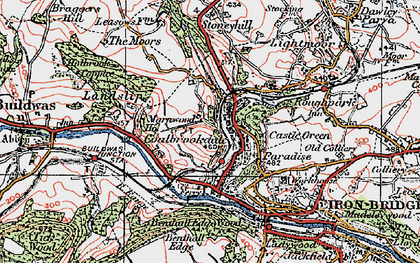 Old map of Coalbrookdale in 1921