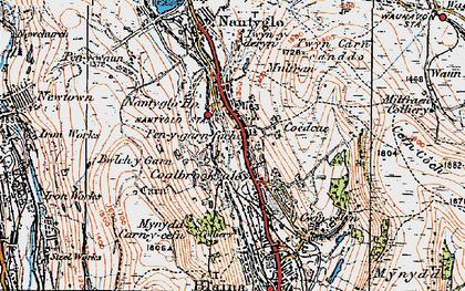 Old map of Coalbrookvale in 1919