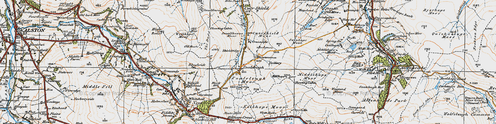 Old map of Allendale Common in 1925