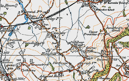 Old map of Coaley in 1919