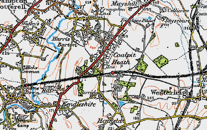 Old map of Coalpit Heath in 1919