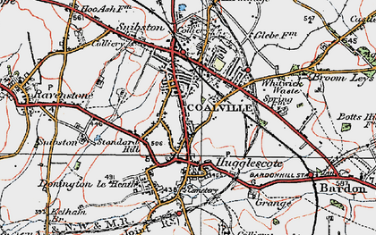 Old map of Coalville in 1921