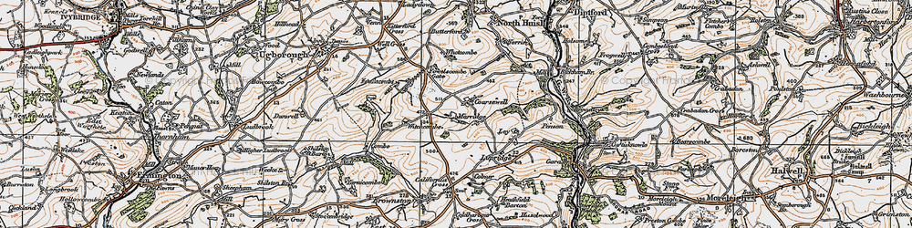 Old map of Whetcombe in 1919