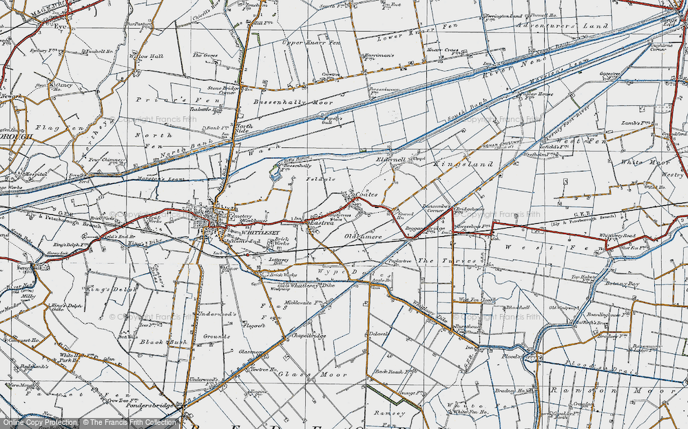 Old Map of Coates, 1922 in 1922