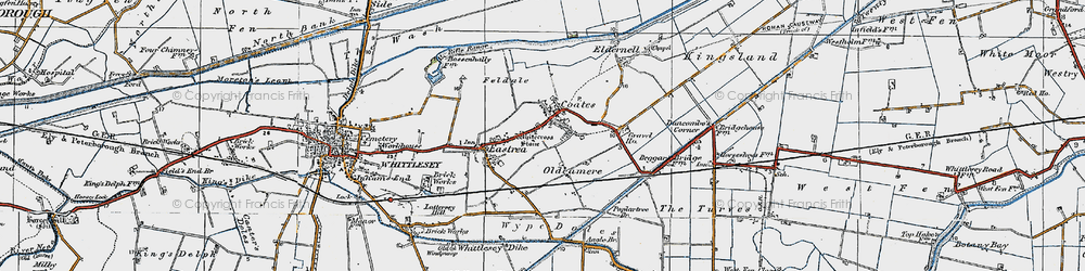 Old map of Whitecross Stone in 1922