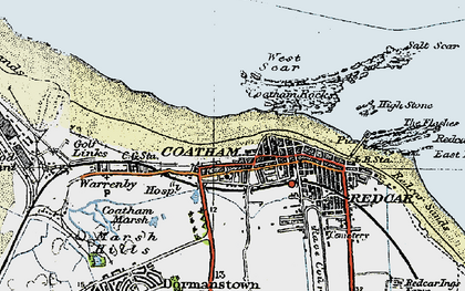 Old map of West Scar in 1925