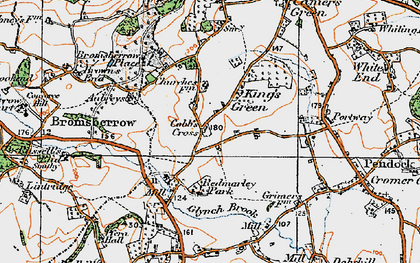Old map of Cobb's Cross in 1919