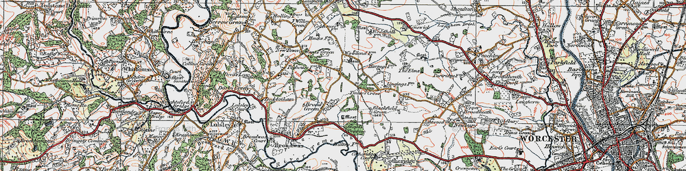 Old map of Tinkers' Cross in 1920