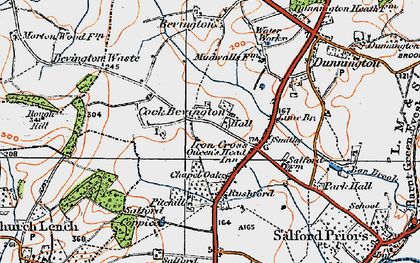 Old map of Ban Brook in 1919