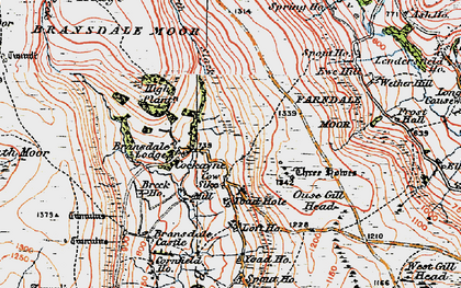 Old map of Ash Ho in 1925
