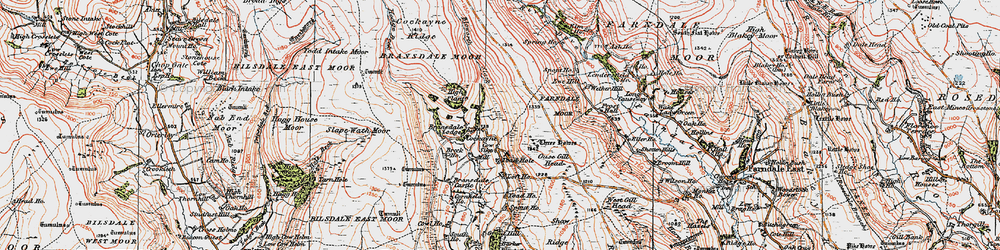 Old map of Toad Hole in 1925