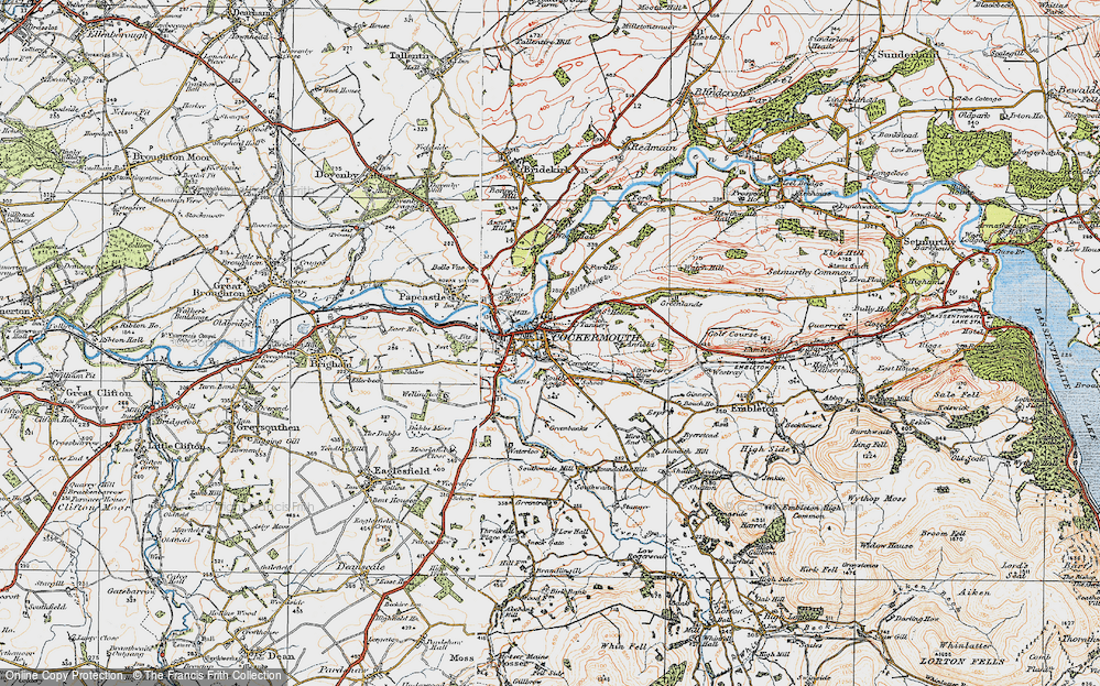 Old Map of Cockermouth, 1925 in 1925
